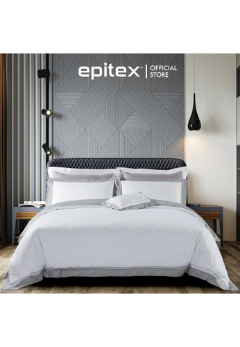Epitex white and silver Epitex Hotel Collection 1200TC 100% Egyptian Cotton EH2305-1 Bedsheet 26340HL418E5C9GS_1