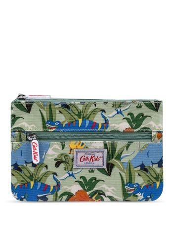 Cath Kidston green Dinosaur Jungle Kids Zip Pencil Case 7E43DKCF928E55GS_1