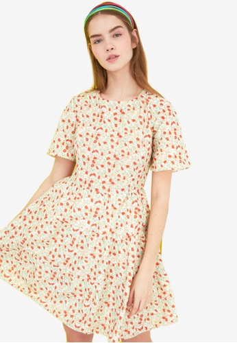 Trendyol multi Floral Print Swing Dress 53762AA2297879GS_1