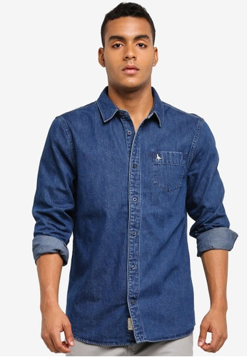 Jack Wills blue Malbrook Denim Shirt ECB02AACF7D083GS_1