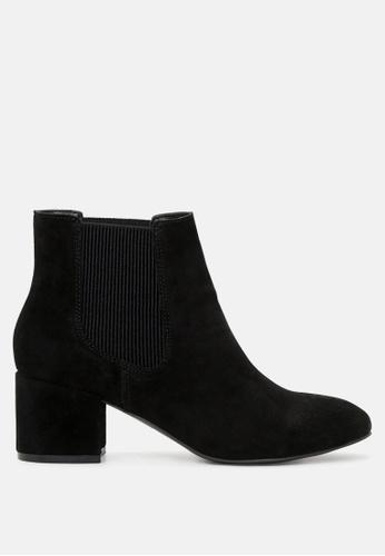 Rag & CO. 黑色 中跟脚踝切尔西靴 RCSH1784 CCD7ASH8C15EB0GS_1
