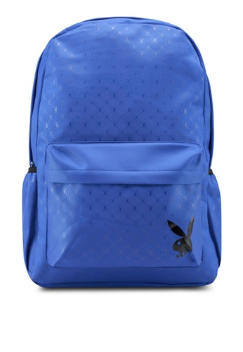 Playboy blue Printed Backpack 76BB3AC2D03AFCGS_1