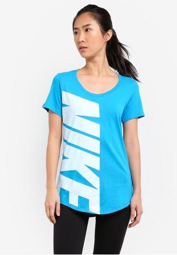 Nike white and blue Women's Nike Sportswear T-Shirt NI126AA0SCG7MY_1