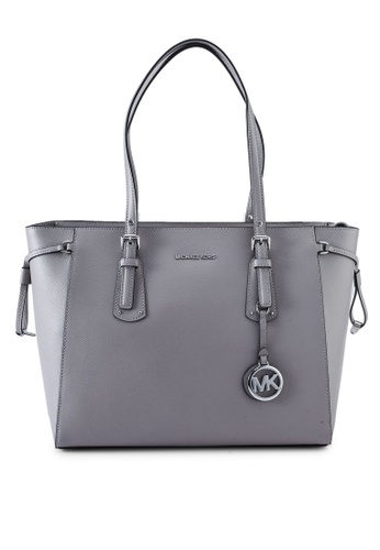MICHAEL KORS grey Voyager M Tote (zt) 449A9AC7C680AEGS_1