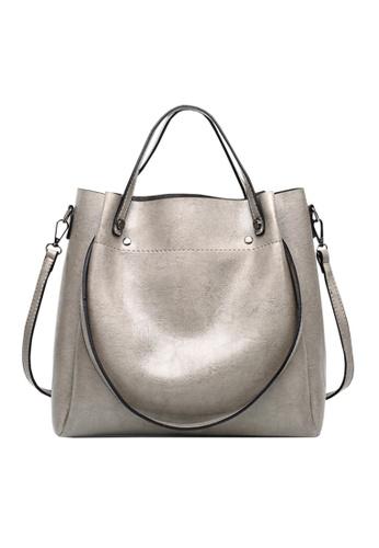 Twenty Eight Shoes grey VANSA Simple Design Hand Bag   VBW-Hb028 A585BAC5E82D63GS_1