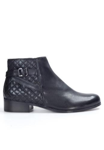 Shu Talk 黑色 經典高貴小扣女短靴 SH544SH09PIZTW_1