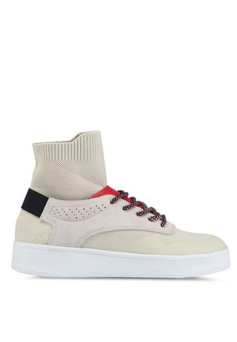 Mango beige Sole Sock Sneakers AD175SH07E45EFGS_1