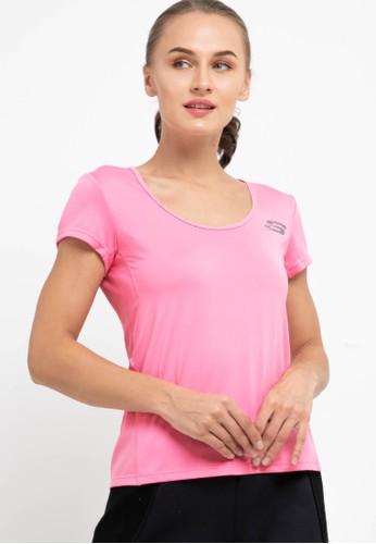 Skechers black and pink Wmn Mx Run Tee 11DE4AADD70458GS_1