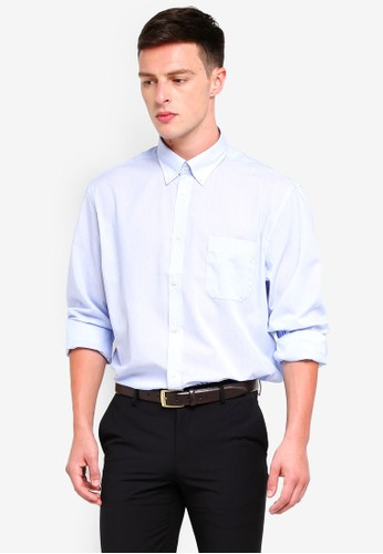 OVS blue Regular Fit Formal Shirt With Breast Pocket 3E867AAADF24ADGS_1