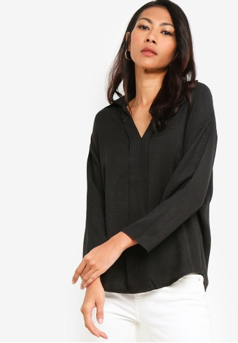 ZALORA BASICS black Basic Long Sleeves Shirt CE23FAAAEC6218GS_1