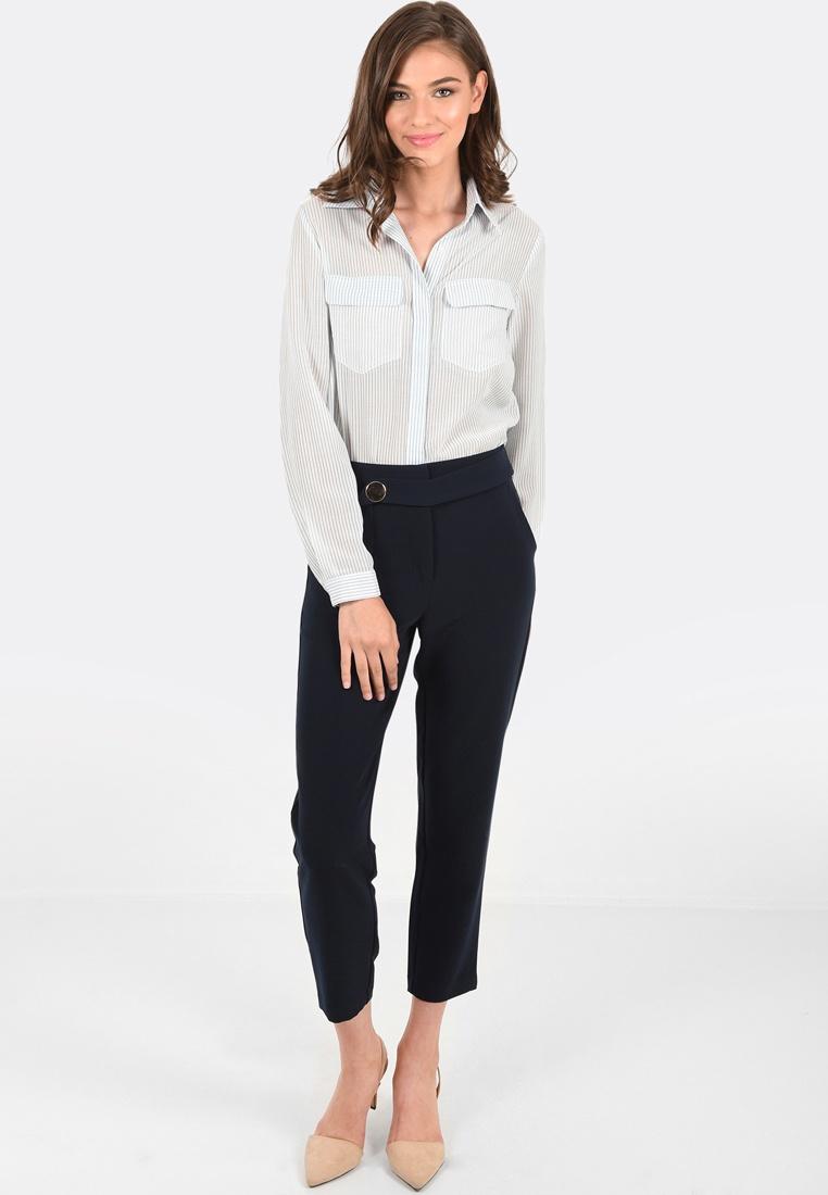 FORCAST Shirt Blue Button Valerie Up rqzCar