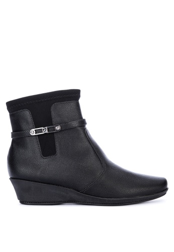 Piccadilly black Comfort Ankle Boots F066ASHB45EF40GS_1