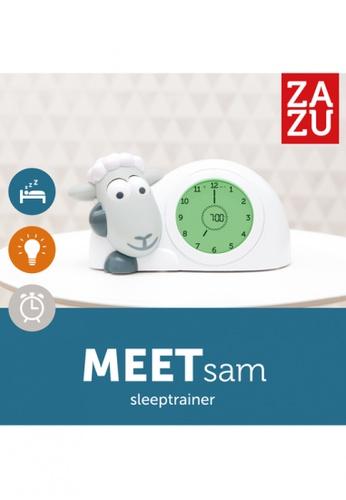 Zazu grey [Zazu Kids] SAM the Lamb, Sleep Trainer with Nightlight, Comes with Analogue and Digital Clock for Kids - Grey 2B682HL194FC3FGS_1
