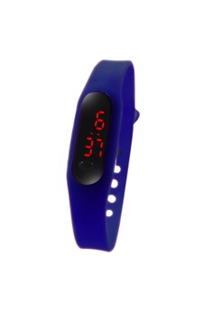 Digital LED Slim Dots Unisex Silicone Strap Watch