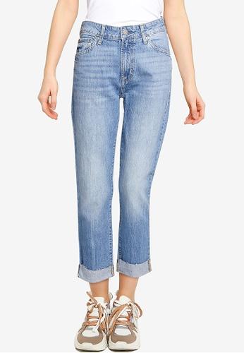 GAP blue Mid Rise Universal Slim Boyfriend Jeans 8C3EEAAFBC4A03GS_1