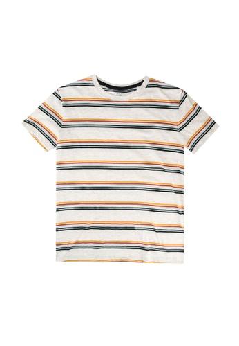 FOX Kids & Baby grey Striped Tee 86B69KAE043001GS_1
