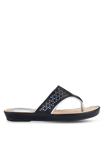 Alfio Raldo black Casual Sandals AL803SH0R9POMY_1