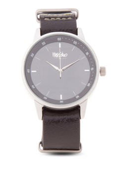 Dune Leather Strap Analog Watch