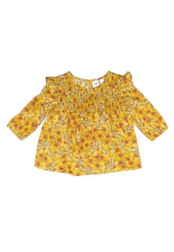 GAP yellow Print Top 60E5DKA1A22E57GS_1