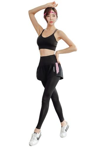 YG Fitness multi (2PCS) Quick-Drying Running Fitness Yoga Dance Suit (Bra+Bottoms) 4EADDUS9DC9E73GS_1