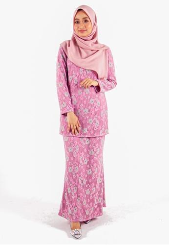 FATIMÉ green and purple Premium Lace Fatimah (Purple) 81363AACA5DC96GS_1