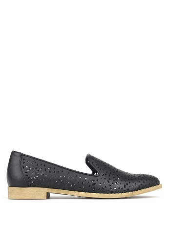 Betts black Valentine Perforated Slip-On Shoes F1422SHA7174C3GS_1