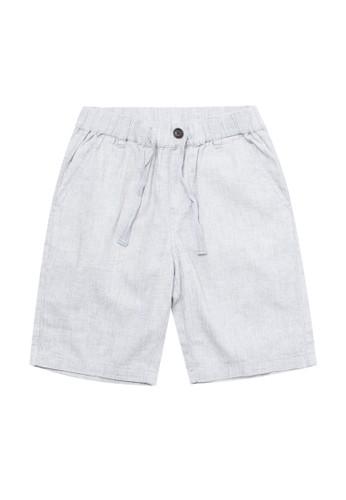 Giordano grey Junior Linen Cotton Short 94E5DKA41B427AGS_1