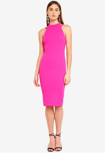 AX Paris pink Double Strap Midi Dress 833CBAAB2150B1GS_1