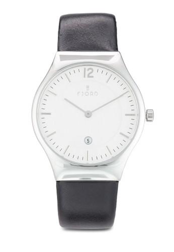 OLLEzalora 台灣 雙指針皮革錶, 錶類, 飾品配件