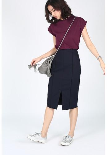 Mayshea Contrast Pencil Skirt