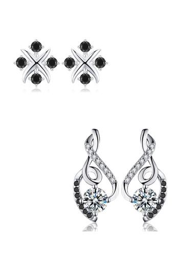 A-Excellence white Premium Elegant White Silver Earring Set 8DDF9AC6000CEEGS_1