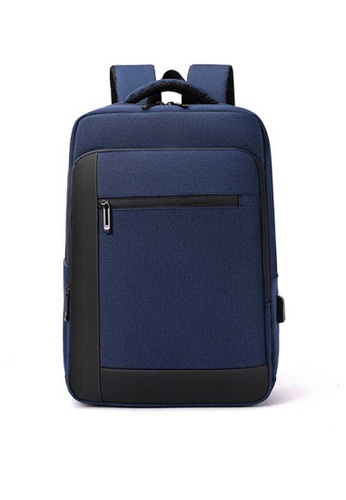 Lara blue Businessmen's Water-repellent Nylon Zipper Backpack - Dark Blue 1B947ACE17A435GS_1