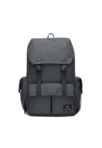 The Dude grey Predator Backpack B7792ACD15CD54GS_1