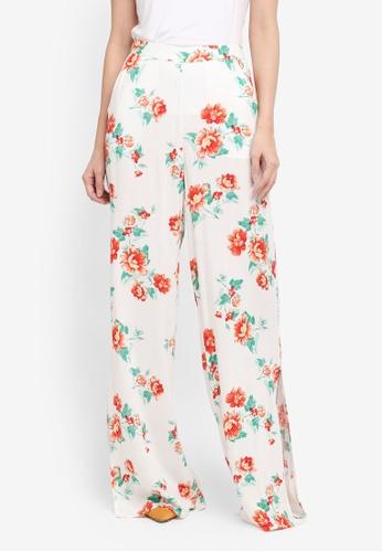 Miss Selfridge multi Floral Wide Leg Trousers 296CCAA5E9E463GS_1