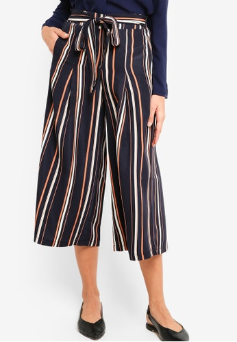 ZALORA multi and navy Casual Culottes with Tie 1F3A0AACAA7927GS_1