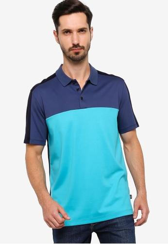 BOSS 藍色 Piket 17 Polo Shirt C7801AAD6504ADGS_1