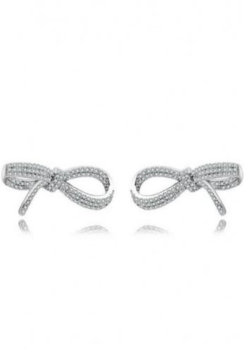 Vivere Rosse silver Vivere Rosse Bowknot Rendezvous Stud Earrings VI014AC98ZAJMY_1