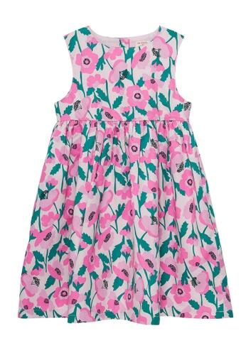 Du Pareil Au Même (DPAM) pink Floral Print Dress 7784AKA5F8F14FGS_1