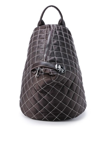 London Berry by HUER brown Latya Quilted backpack 55E85AC014C67CGS_1