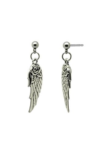 Fur Nyce silver Angel's Wings Tibetan Style Drop Earrings FU779AC02QZLMY_1