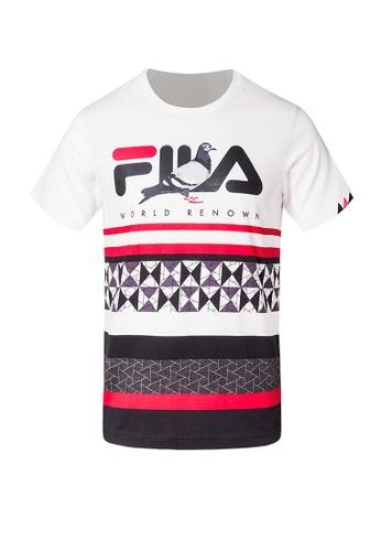 12512b80e486 FILA red FILA x STAPLE T-shirt 963B1AA5C81338GS 1