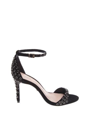 SCHUTZ black SCHUTZ Studded Strap Middle Heel - ZOE (BLACK) 11964SH586B784GS_1