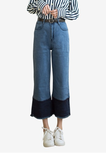 Tokichoi blue Cropped Cuffed Wide Jeans 1B864AA32B3E80GS_1