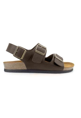 SoleSimple 褐色 Milan - 深棕褐色 百搭/搭帶 全皮軟木涼鞋 E9E66SH2E4A6AEGS_1