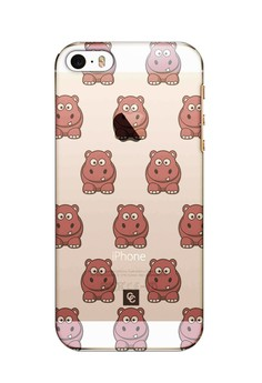 Casey Crazy - Hippo Semi-Transparent Hard Case for iPhone 5,5s