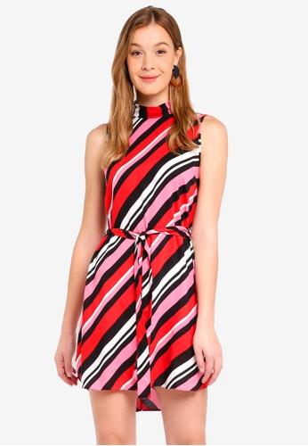 Dorothy Perkins 黑色 Petites Stripe Roll Neck Shift Dress 24C8EAA14FCF39GS_1