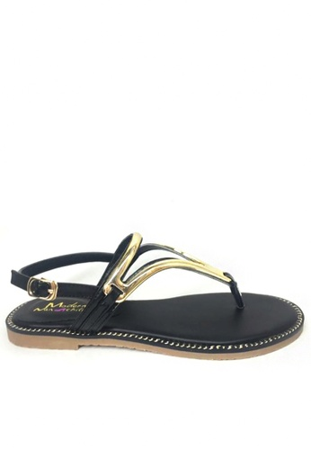 Twenty Eight Shoes black Metal piece sandal 2 TW446SH74HTLHK_1