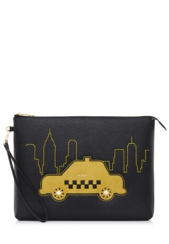 BONIA black Black Taxi iPad Case CB029AC7F58179GS_1