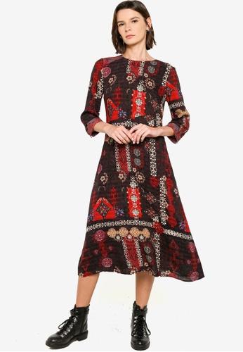 Desigual black Long Midi Dress 2989FAA571BB5BGS_1