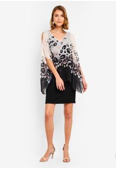 9ba4800a3442 15% OFF Wallis Black Animal Print Overlay Dress RM 339.00 NOW RM 287.90  Sizes 8 10 12 14 16